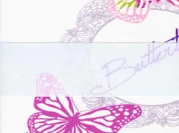 Фото «зебра БАБОЧКИ 4096 розовый, 260 см»
